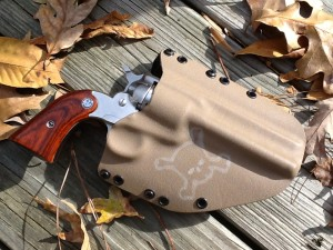CUSTOM WORK MADE ON ACTUAL GUN, ADVENTURE HOLSTER IN FDE-FALL