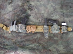 CUSTOM WORK, BATTLE BELT IN WOODLAND DIGITAL CAMO